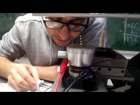 Acoustic levitation experiment 3