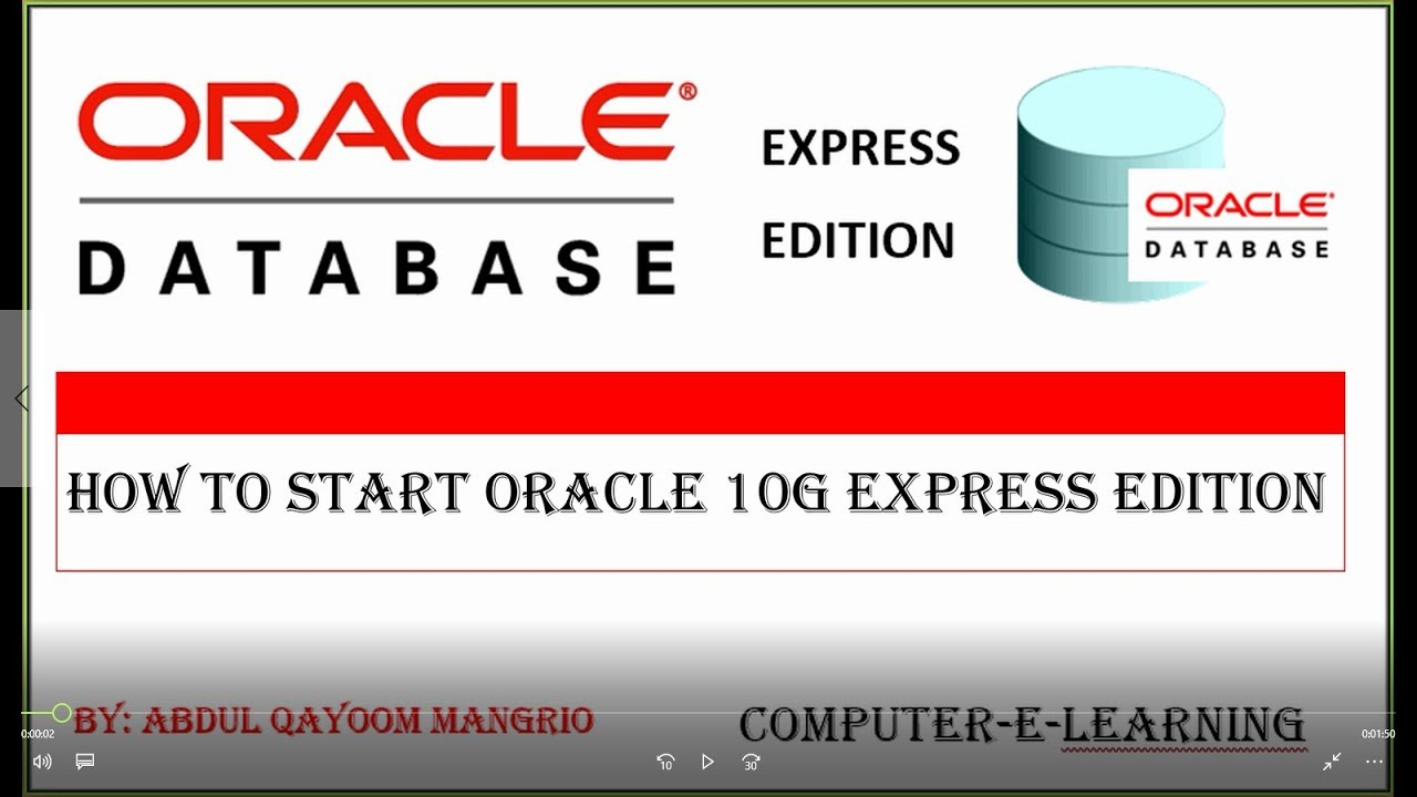 Oracle® database express edition.