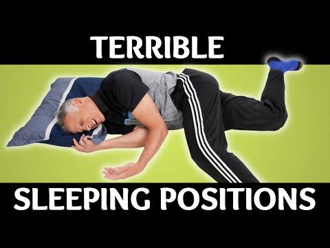 Top 3 Terrible Sleeping Positions - YouTube
