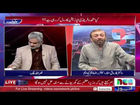 Live with Nasrullah Malik 22 May 2016 | Farooq Sattar MQM Exclusive Interview