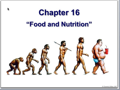 Chemistry & Society - Chapter 16 - Food & Nutrition
