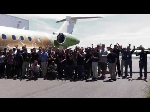 First flight of the US-assembled Legacy 500