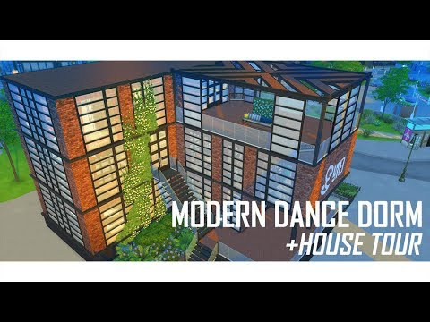 THE SIMS 4 | Modern Dance Dorm | BUILD | + House Tour