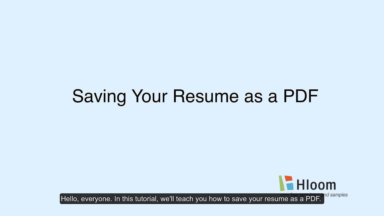 how to format a resume in minutes step by step video tutorials