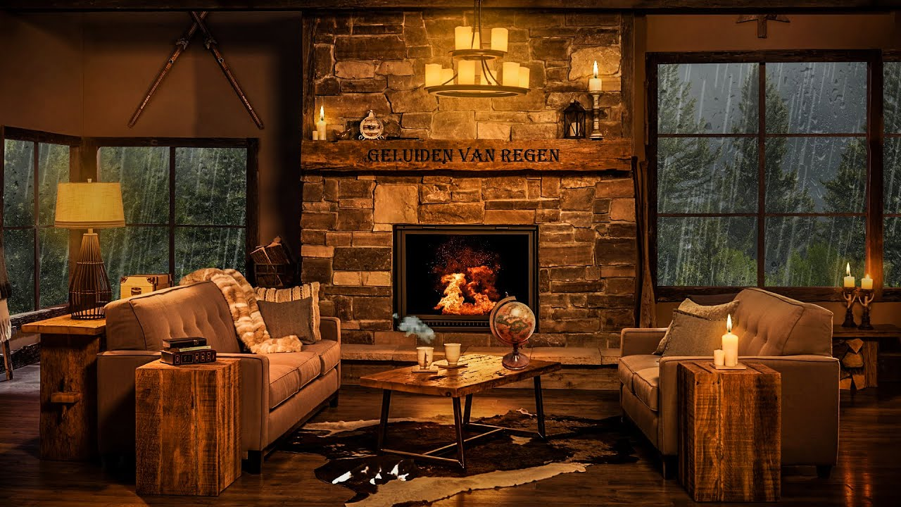 Lay on the Sofa Next to the Fireplace and Listen to the Rain. it Was a Perfect Night!