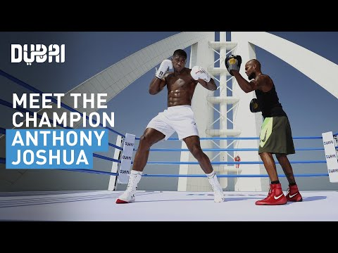 Boxing champion Anthony Joshua's fight in the sky in Dubai on the Burj Al Arab Helipad | Visit Dubai