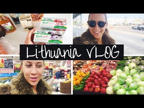 Travelling to Lithuania, VEGAN HEAVEN + Food Shopping HAUL | Lithuania VLOG Part I | Greta Tigras