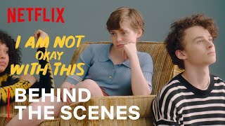 I Am Not Oĸay With This BTS | Sophia Lillis & Wyatt Oleff Dance To An Awkward Song | Netflix