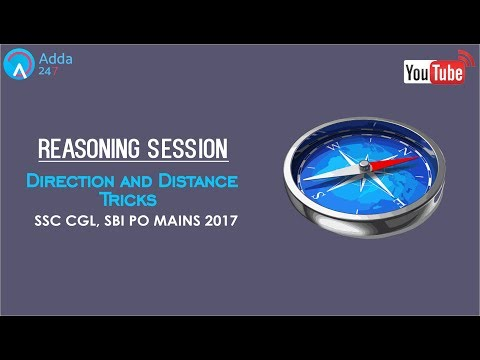 Reasoning - Direction and Distance Tricks For SSC CGL 2017