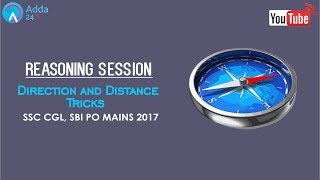 Reasoning -  Direction and Distance Tricks For SSC CGL  & SBI PO MAINS - Online SSC CGL Coaching