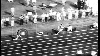 Athletes set new record at the National Collegiate Athletic Association Track Mee...HD Stock Footage