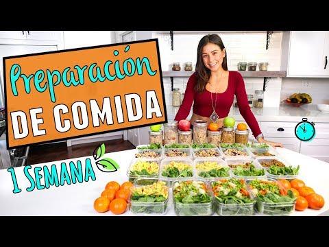PREPARACIÓN DE COMIDA DE 1 SEMANA PARA PERDER PESO! Vegano, Fácil y Economico