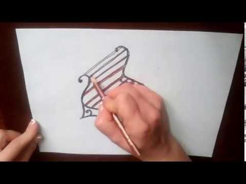 Как нарисовать лавочку в парке поэтапно