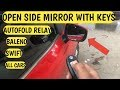Autofolding Car Mirror Relay Installation | Open Side Mirror With Keys Swift Baleno Dzire All Cars