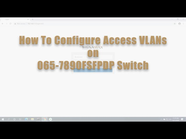 How to Configure Access VLANs on 065-7890FSFPDP Switch