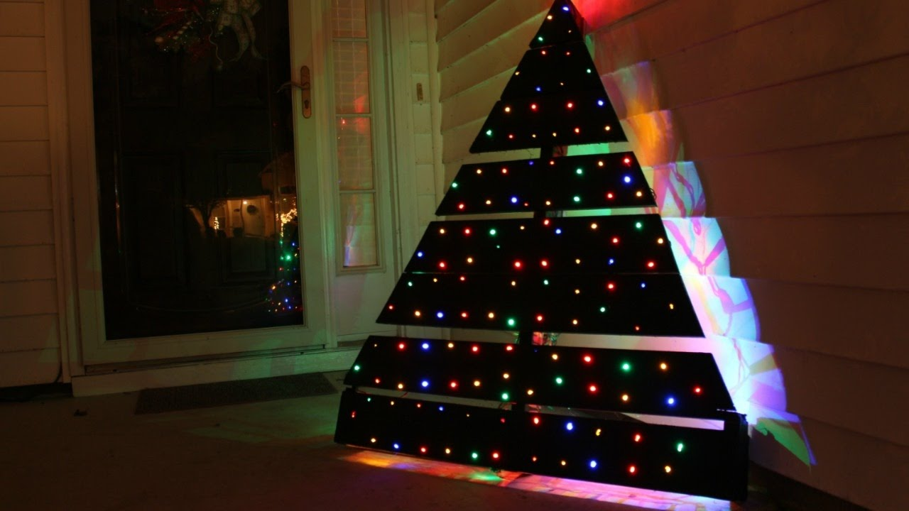 Diy Pallet Christmas Tree Led Lights