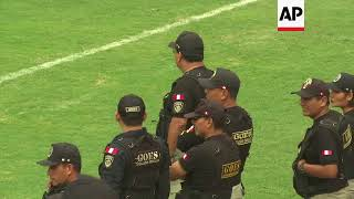 'Peru' beats 'Russia' in Lima prison 'World Cup' football tournament