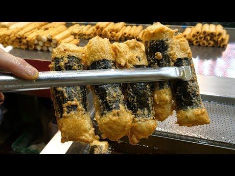 35년 경력, 천원! 어묵 달인의 놀라운 수제어묵 만들기 - 부천자유시장 / Amazing Skill of 1$ Fish Cake Master - Korean street food