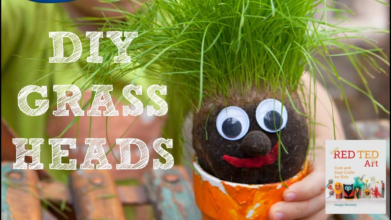How To Make A Grass Head Youtube