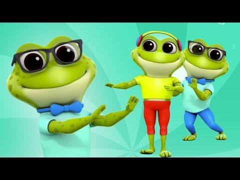 Rana dedo familia | dedo familia para los bebés | Rimas para niños | Frog Finger Family in Spanish