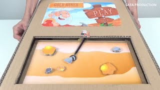 How to make Gold Miner Game from Cardboard - Classic Game in Real Life