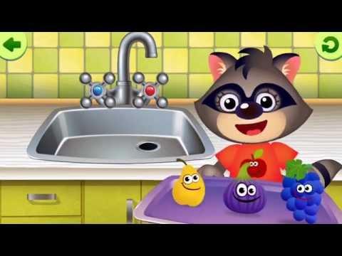 Kids Hygiene Wash Fruits and Vegetables