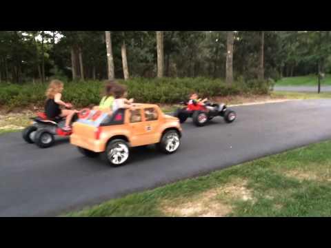 Modified 24 volt power wheels kids race