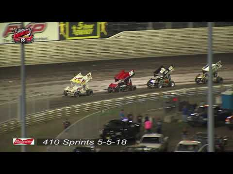 Knoxville Raceway 410 Highlights - May 5, 2018