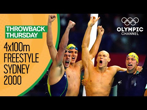 The Epic Men's 4x100m Freestyle Swimming Race - Sydney 2000 Replays | Throwback Thursday