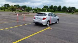 Teenager 90 degree driving practice