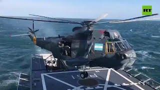 El primer aterrizaje del nuevo patrullero oceánico de la Armada Argentina