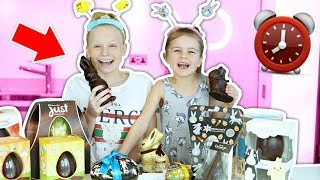 WE ATE ONLY EASTER EGGS FOR 24 HOURS! 😱**chocolate overload**