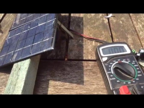 Experiments with solar panels