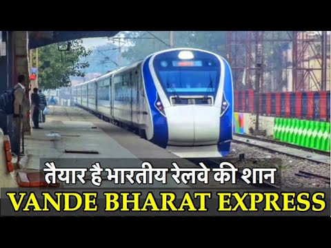 VANDE BHARAT EXPRESS in FULL LOOK accelerating out of New delhi