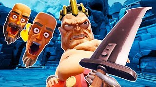 I Finally Defeat the Gorn King with a Giant Wiggly Sword in Gorn VR!