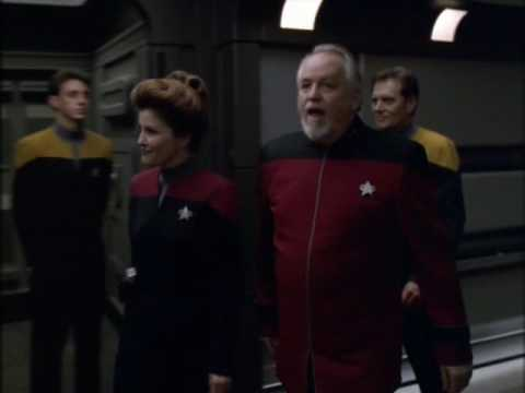 Captain Janeway first time on the USS Voyager
