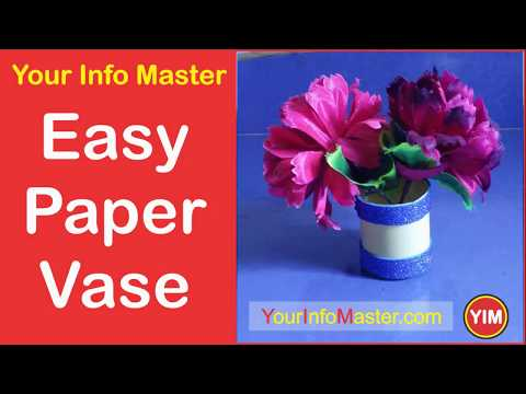 How to Make Easy Flower Vase | DIY paper flower vase | Baby Gift