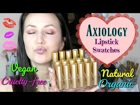 Axiology Lipstick Swatches & Review / Natural Cruelty-free Vegan Lipstick