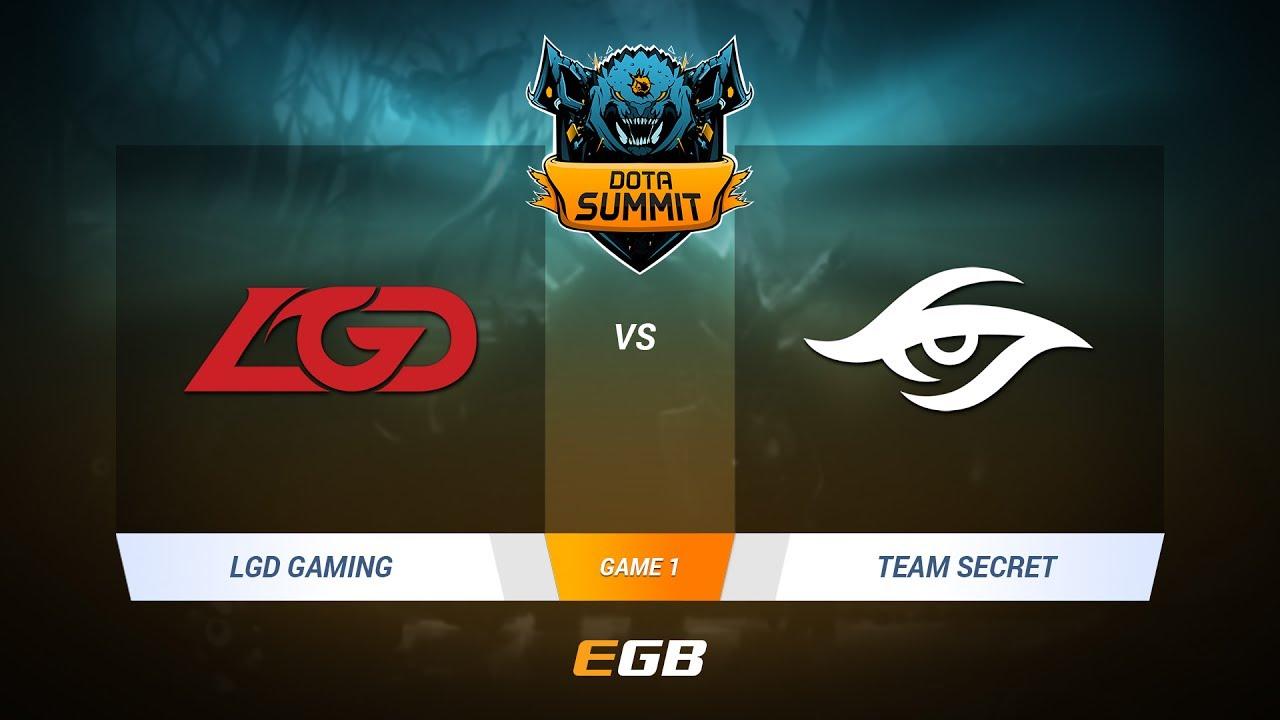 LGD Gaming vs Team Secret, Game 1, DOTA Summit 7 LAN-Final, Day 3
