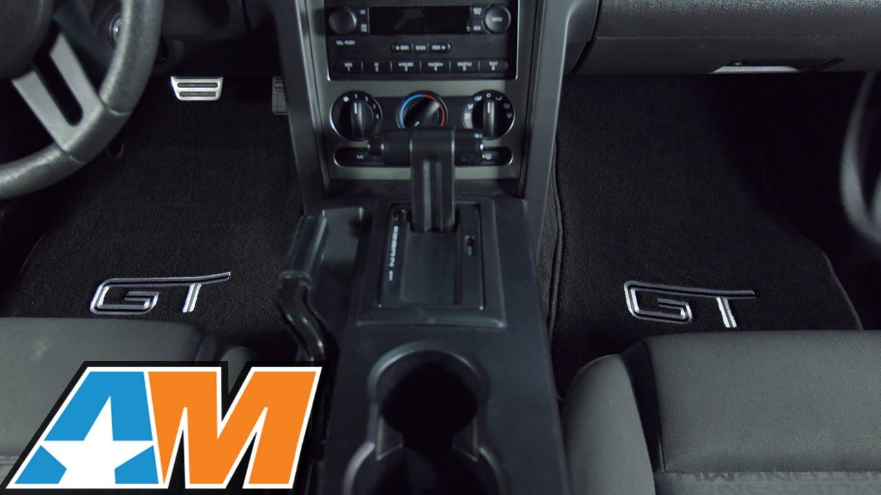 2005-2010 Mustang Lloyd Black Floor Mats - Silver & Black GT Logo Review &  Install