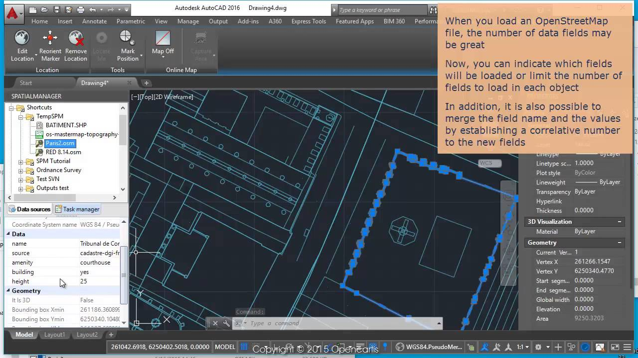 Better OpenStreetMap - Select the Fields to load (AutoCAD) - Spatial  Manager™ Blog