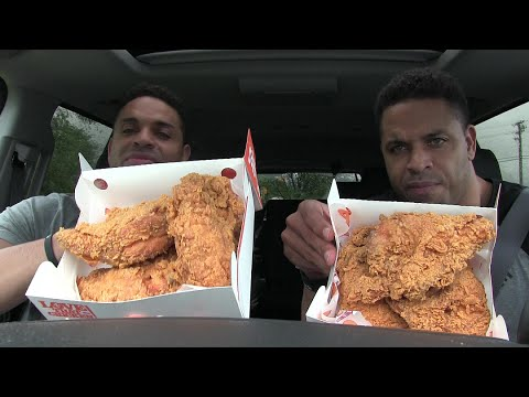 eating 6 spicy popeyes chicken breast - Popeyes Louisiana Kitchen Spicy Chicken Breast