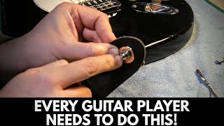 How To Install Schaller Strap Locks To A Guitar