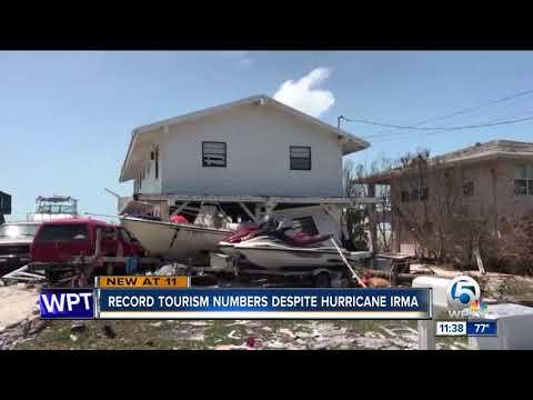 Tourism has record tourism despite Hurricane Irma
