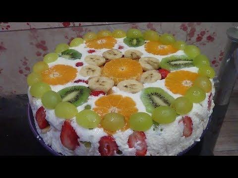 Нежный фруктовый торт