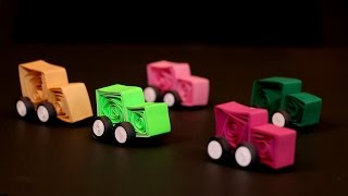 Paper Quilling Designs - Paper Quilling Vehicle Designs - पेपर क्विलिंग से गाड़ी बनाइये - Ep 9