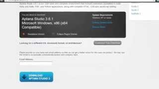 Aptana Studio 3 install on windows 10