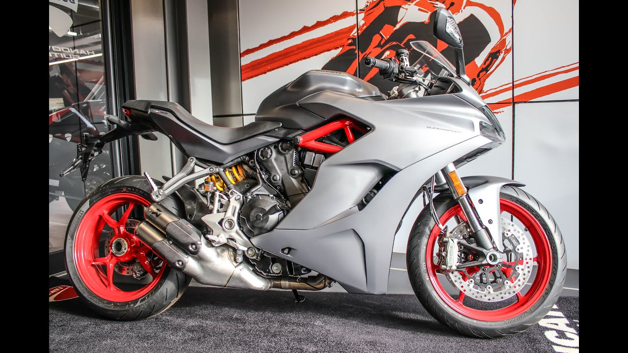 2020 DUCATI SUPERSPORT TITANIUM GREY | AKRAPOVIC CANS @ Ducati Glasgow, Scotland