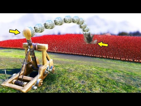 FULLY AUTO CATAPULT vs 20000 SOLDIERS! - Ultimate Epic Battle Simulator UEBS #2