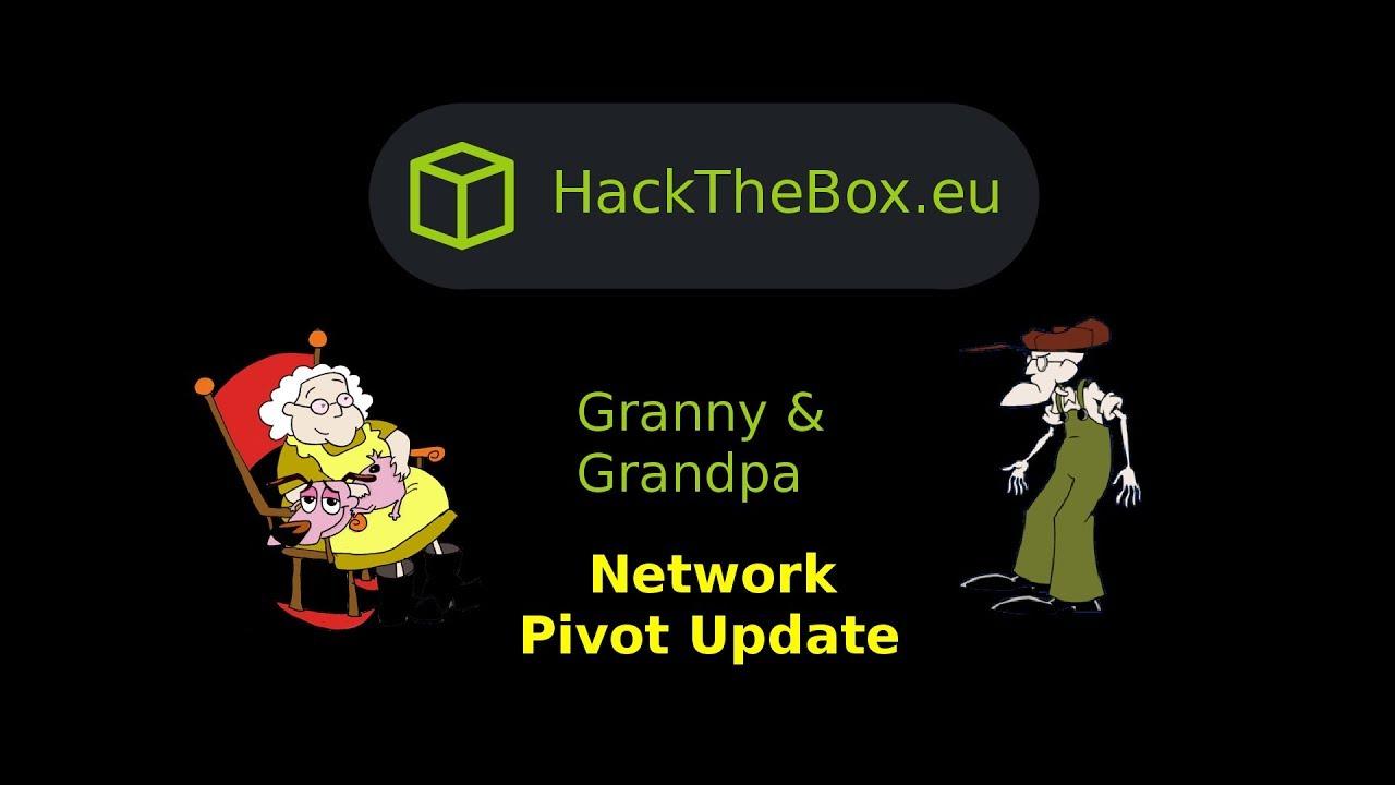 HackTheBox - Pivoting Update: Granny and Grandpa
